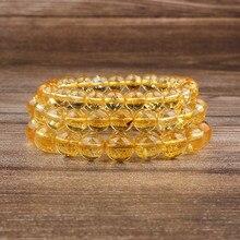 Lanli ametista de joias naturais 8mm, pulseira solta de pedras, amuleto para yoga, masculina e feminina