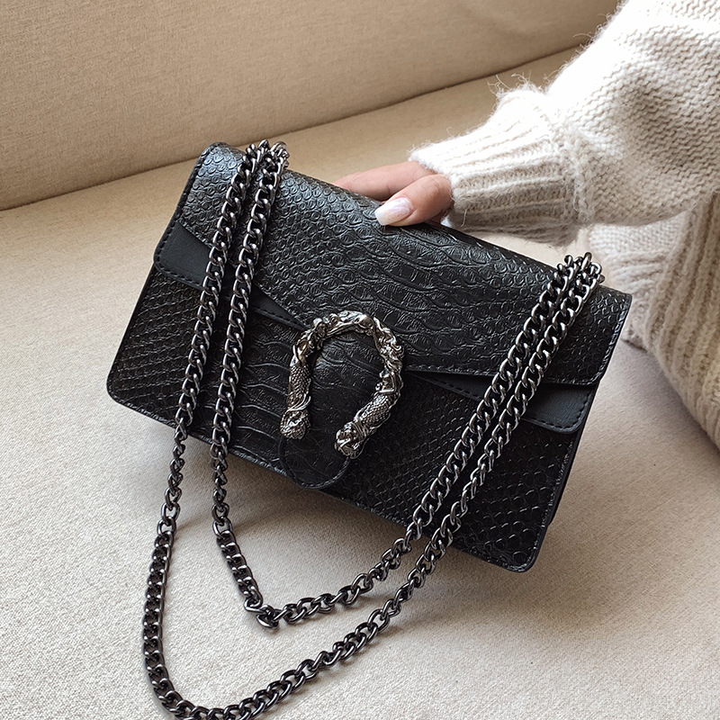 Luxury Crossbody Bags For Women 2020 High Quality PU Leather Serpentine Famous Brand Handbag Designer Ladies Chain Shoulder Bag