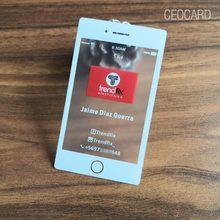 90x51mm 0.38mm דק חלבית שקוף פלסטיק כרטיסי עם לבן דיו הדפסה עבור QR קוד טלפון גודל כרטיס ביקור עם כלל