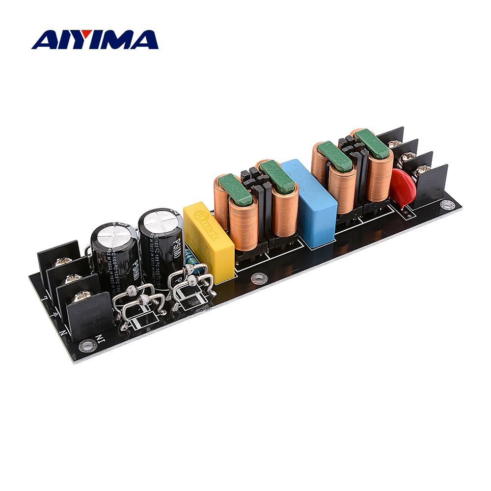 AIYIMA 2000W EMI Power Filter Module AC110V-265V High Efficiency DC Power Supply Filter DIY Audio Sound Home Amplifiers