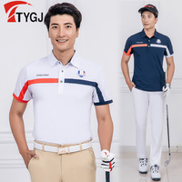 Men's Exercise Golf Shirts Short Sleeve Breathable Shirts Male Quick Dry Anti sweat Tennis Badminton Sportswear