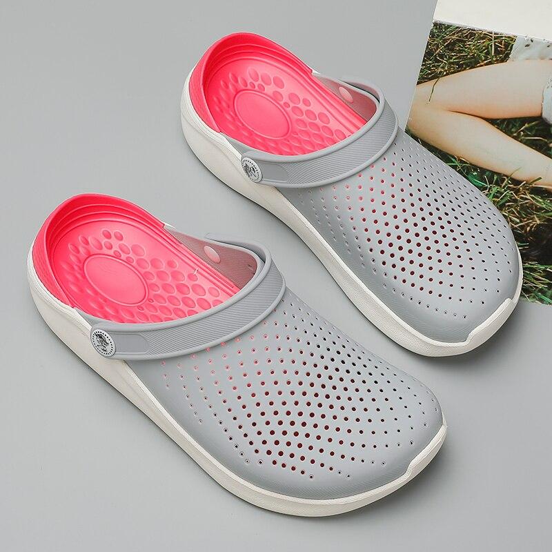 LLUUMIU/летние уличные сандалии; Женские сандалии на платформе 2020 года; Mujer Hombre; Сабо для женщин; Пляжная обувь для сада; Тапочки