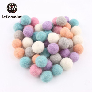 Image 2 - 100PCS 20mm 100% Wool Felt Balls DIY Balls Hanging Accessories Candy Color Wool Ball For Kids Room Decoration Nursery Home Decor