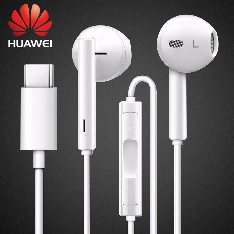 Наушники HUAWEI CM33, наушники-вкладыши USB Type C, проводная гарнитура с микрофоном и регулятором громкости для Mate 40 30 20 10 9 Pro P30 Pro Xiaomi Mi9