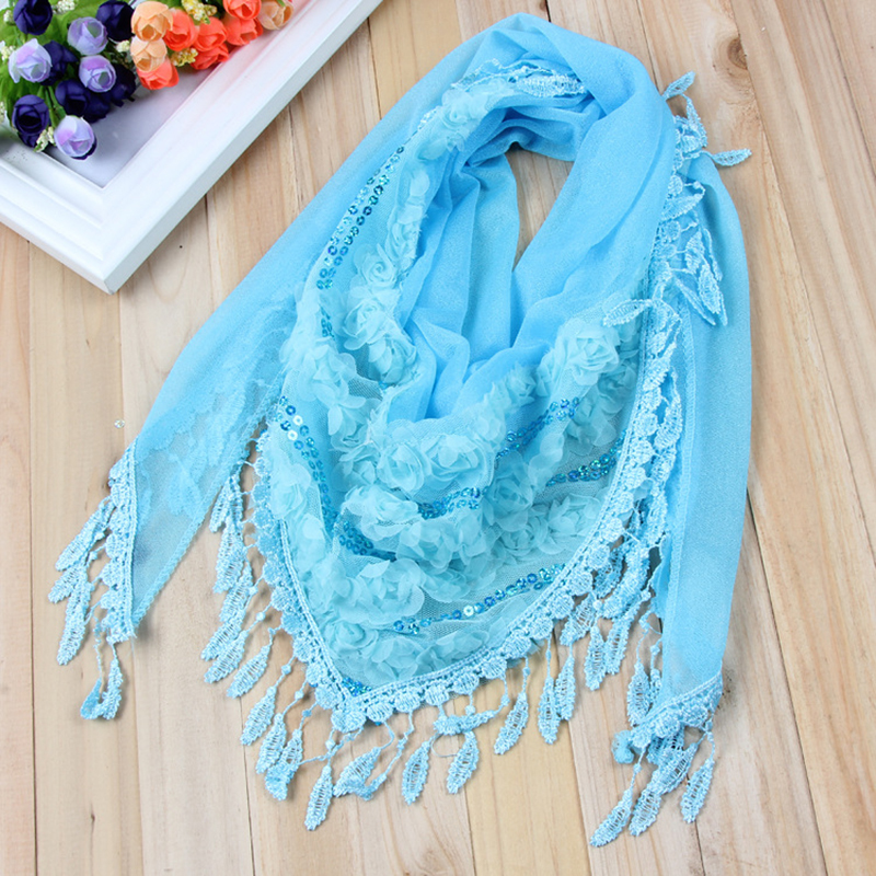 Trendy Fashion Woman Borla Vest And Scarf Autumn Woman Silk Lace Triangular Necklace Scarf Fashion Woman Scarf in Women 39 s Scarves from Apparel Accessories