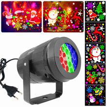 16 Patterns LED Night Light Projector 360 Degree Rotating Lamp Colorful Christmas Decoration Lights Xmas Party Lamps Kids Gifts