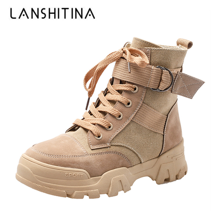New Women Ankle Boots Autumn High Top Suede Leather Sneakers Woman Fashion Trend Casual Short Boots Winter Leisure Canvas Shoes
