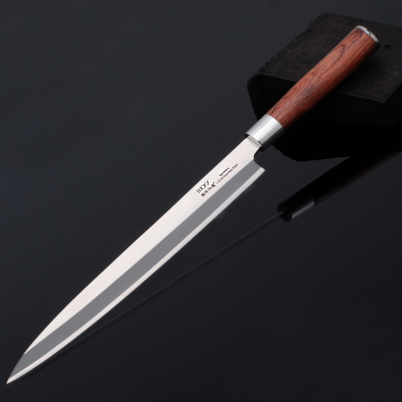 Left Hand Japanese Sashimi  Yanagiba Kitchen Knife German Steel Salmon Fish Fillet Cleaver Cutter Slicing Cooking Knives 9G