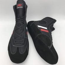 Домашняя обувь с мягкой подошвой для борьбы; Профессиональные боксерские бои; кожаные кроссовки; спортивные ботинки для тренировок; большие размеры 34-46