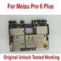 Оригинальный тест разблокировки Рабочая электронная панель материнская плата для Meizu Pro6 Plus Pro 6 plus материнская плата платы шлейф