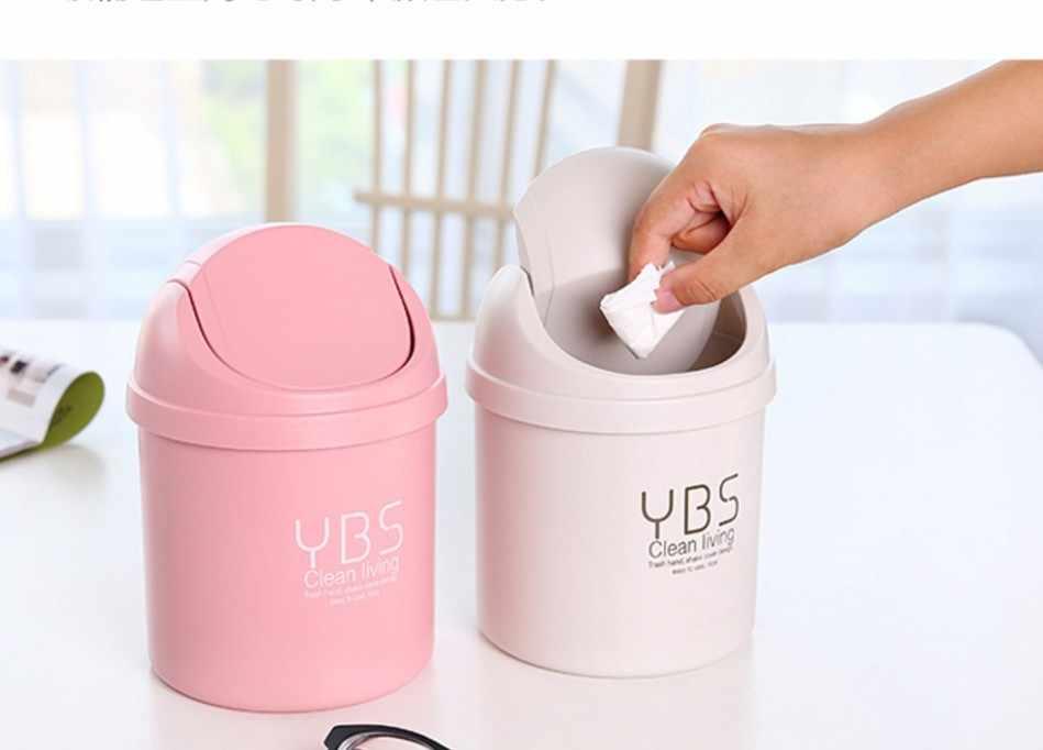 Топ класс конфеты-цветной Настольный мусорный ящик мини с ведерко для мусора ведро для хранения пластиковая корзина мусорная корзина