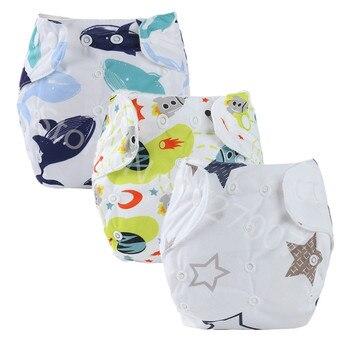 Pañal de tela para bebé, pañal de tela transpirable, pañal reutilizable de bolsillo, cubre pañales, bragas lavables para recién nacidos, a prueba de agua