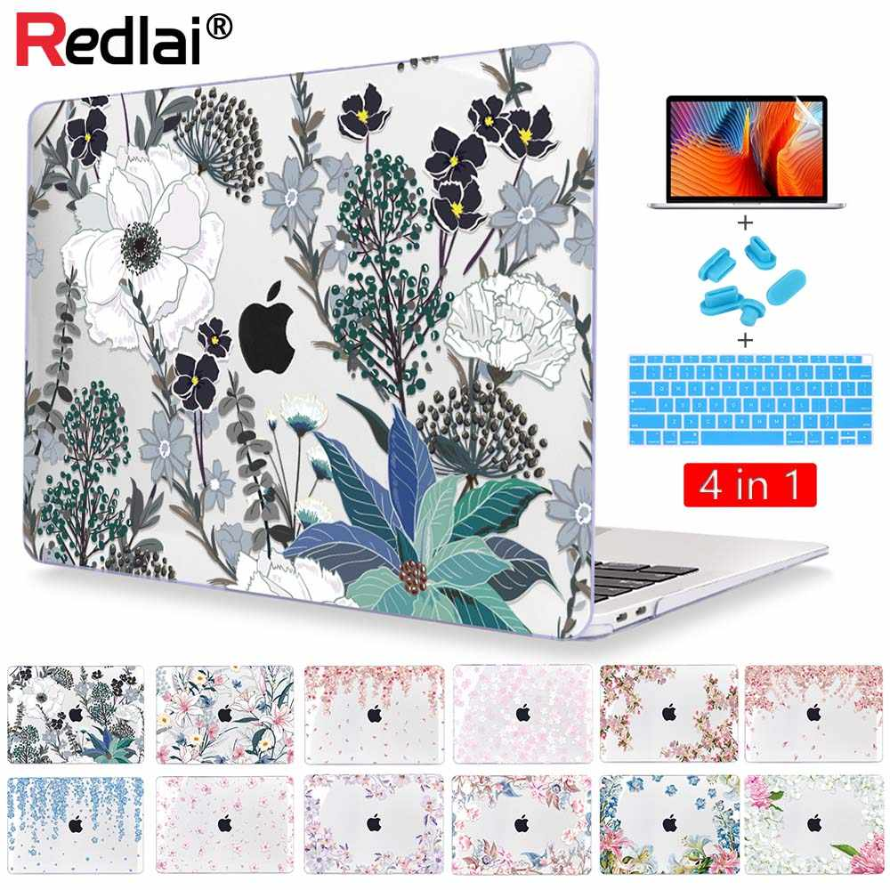 Bloemenprint Plastic Hard Shell Case Voor Macbook Air Pro Retina 11 12 13 15 16 Inch 2020 A2289 A2179 a2141 A2159 A1932 Cover