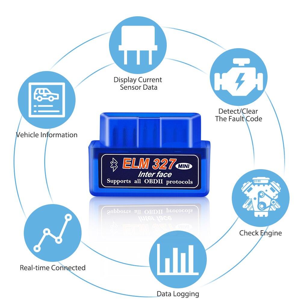 lowest price ELM327 V1 5 Bluetooth WIFI Adapter OBD2 Car Diagnostic Tool OBDII Code Reader OBD 2 Automotive Scanner ELM 327 V1 5 PIC18F25K80