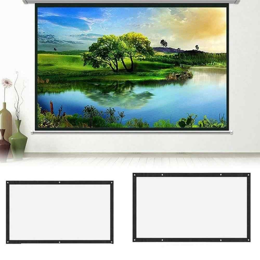4:3 휴대용 접이식 프로젝터 스크린 벽 마운트 홈 시네마 극장 3D HD 프로젝션 스크린 캔버스