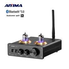 AIYIMA-preamplificador de vacío con Bluetooth APTX 5,0, 6J1, preamplificador de tubo Dual, TPA3116, amplificador estéreo de alta fidelidad, 100Wx2, amplificador Digital para cine en casa