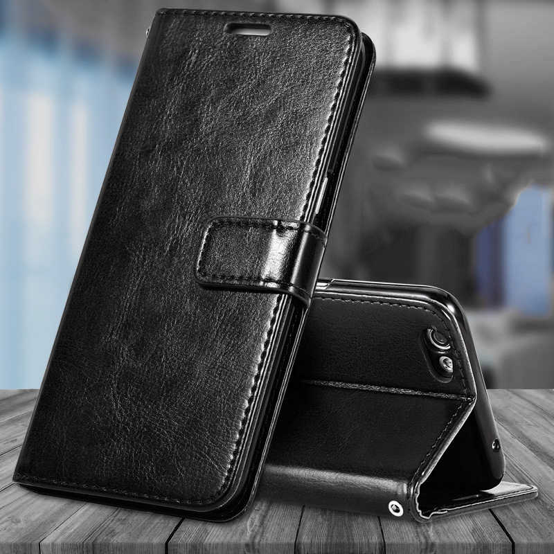 Leather Flip Wallet Case Voor Samsung Galaxy A6 A7 A8 A9 2018 A750 Note 10 9 8 S10 Plus 5G S8 S9 S7 S6 Edge Soft Tpu Telefoon Cover
