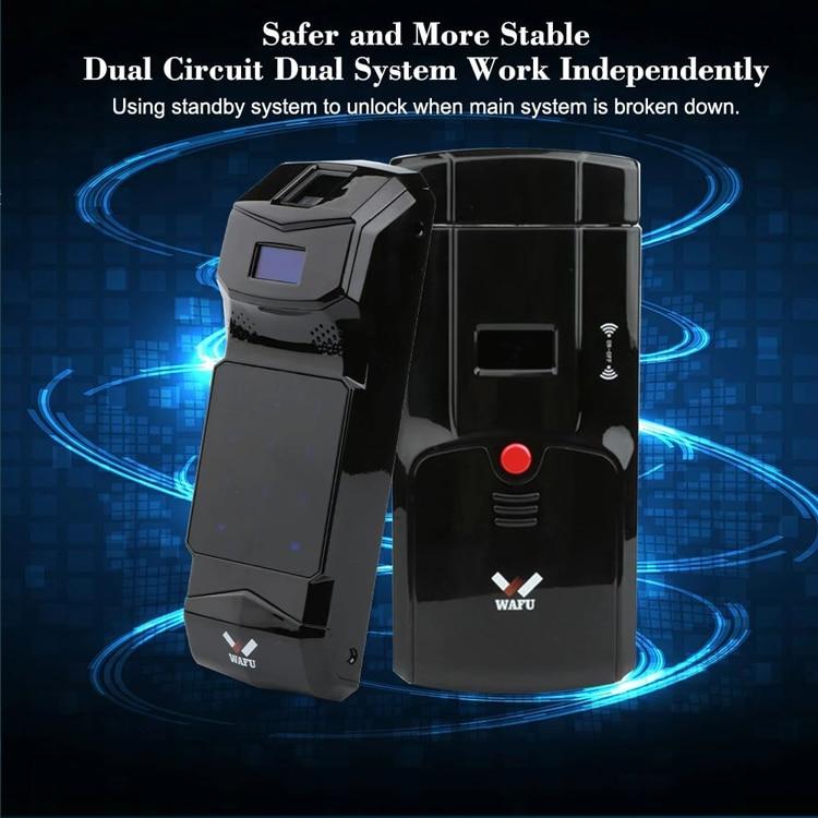 Smart Invisible Fingerprint Remote Lock WAFU 011B Wireless Keyless Door Lock Security Anti-theft Locks With Fingerprint Keypad