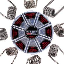 Bobinas preintegradas 8 en 1 Alien funded Tiger bobina Clapton Mix Twisted plano retorcido Hive Quad A1 Kit de bobinas prefabricadas para atomizador RDA RTA