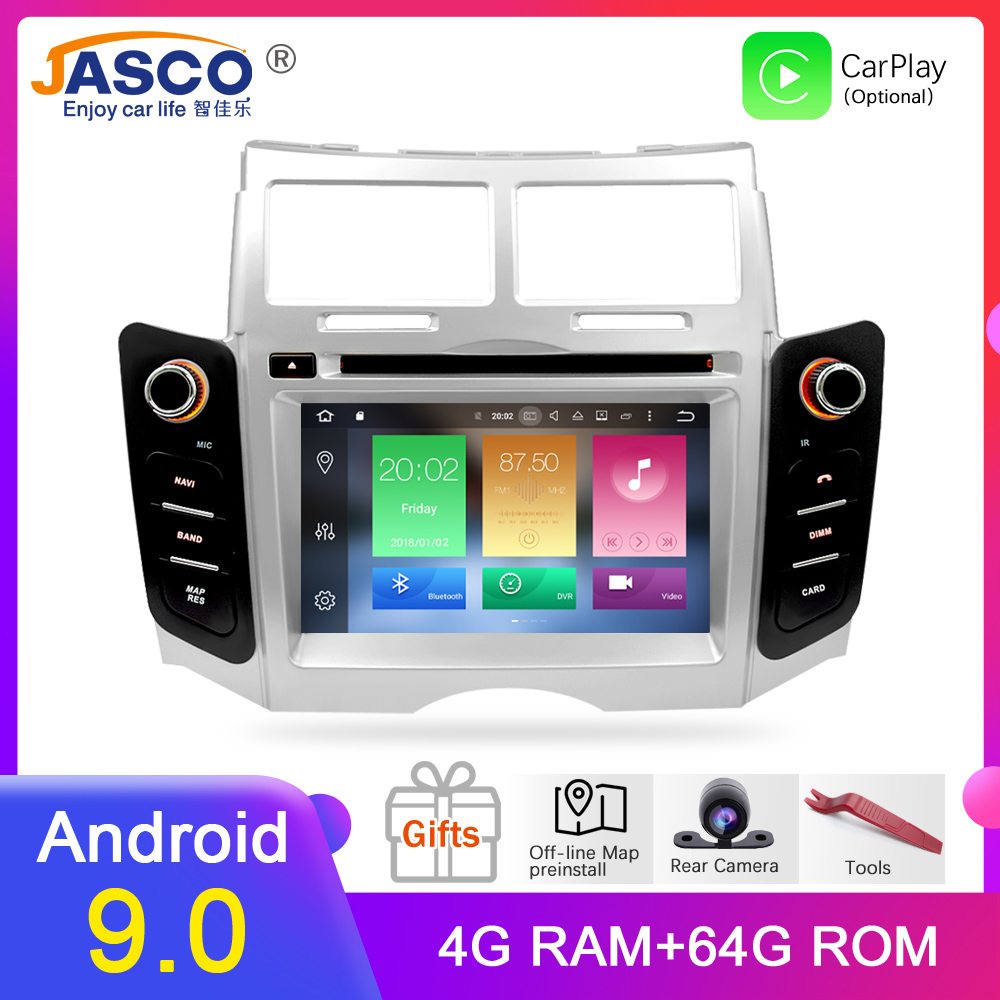 Android 9.0 Car DVD Stereo Multimedia Headunitfor TOYOTA YARIS 2005 2011 Auto PC Radio GPS Navigation Video Audio 4G RAM 64G