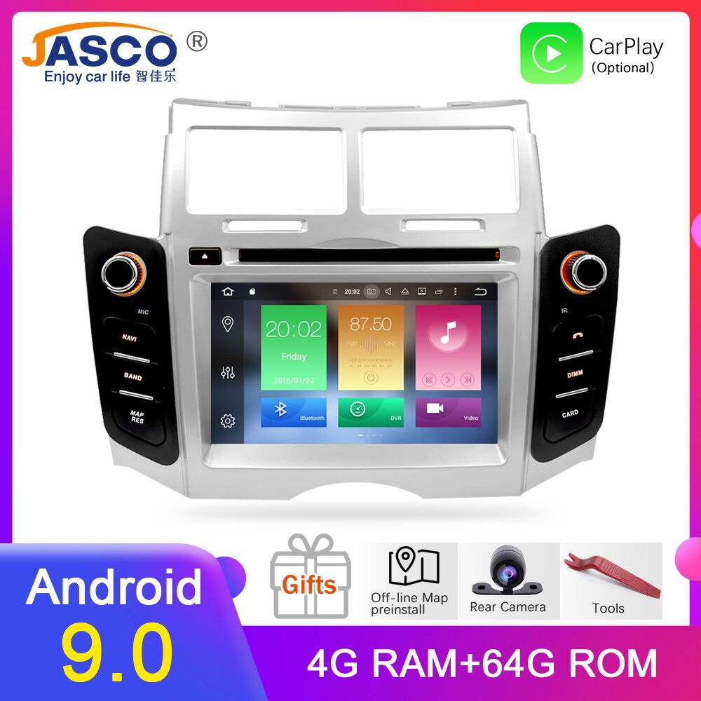 Android 9.0 voiture DVD stéréo multimédia Headunitfor TOYOTA YARIS 2005-2011 Auto PC Radio GPS Navigation vidéo Audio 4G RAM 64G