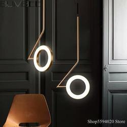 Anneaux en aluminium nordique pendentif Led lumières bureau chambre chevet lampe suspendue salle à manger suspension lampe Loft luminaires suspendus