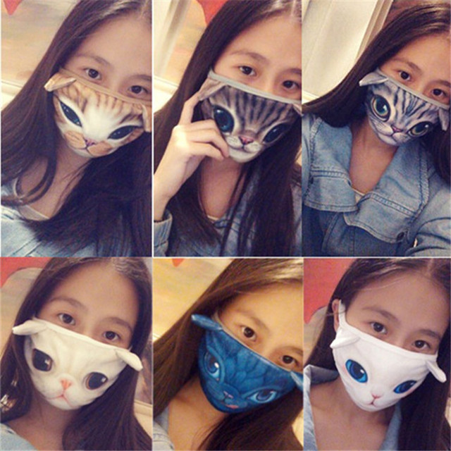 New Cute Cartoon Animal Funny Cat Dog Cotton Mouth Face Mask Anti Dust Masks For Korean Kpop Unisex Face Mouth Muffle Mask Anime 3