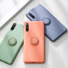 Shockproof Metal Ring Silicone Case For Xiaomi Mi 9 SE Mi9 Stand Holder Silicon Back Cover On The Xiaomi Mi9 SE Cases xiomi mi 9 шк 15 11 шкатулка палех яблоко
