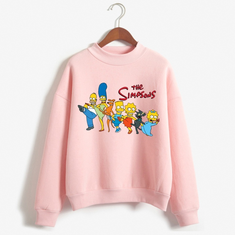 2019 Trendy Sweashirt Women The Simpsons Printed Long Sleeve Casual Oversized For Autumn With Hip Hop Winter Hoodies