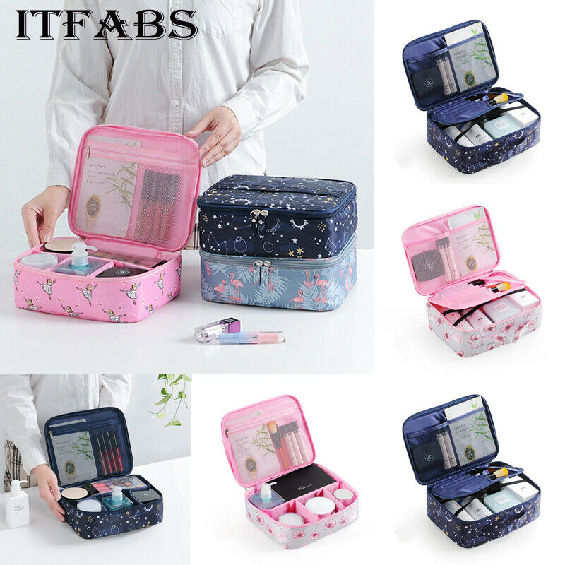 Multifunction Large Makeup Bag Vanity Case Cosmetic Nail Tech Storage Beauty Box Fashion Casual Waterproof Travel Cosmetic Bag