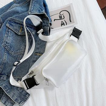 Clear Fanny Pack For Women Waterproof Waist Bag  Harajuku Streetwear Purse Transparent Pouch Adjustable Nerka Belt Bum  Bags
