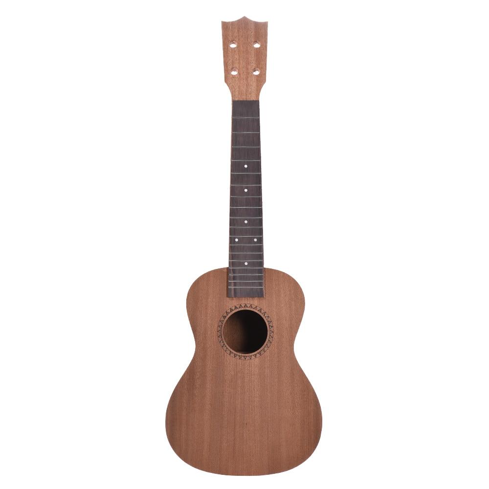 26in Tenor Ukelele Ukulele Hawaii Guitar DIY Kit Sapele Wood Body Rosewood Fingerboard With Pegs String Bridge Nut