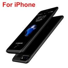 Чехол для аккумулятора iphone 6 s 7 8 портативный зарядный чехол