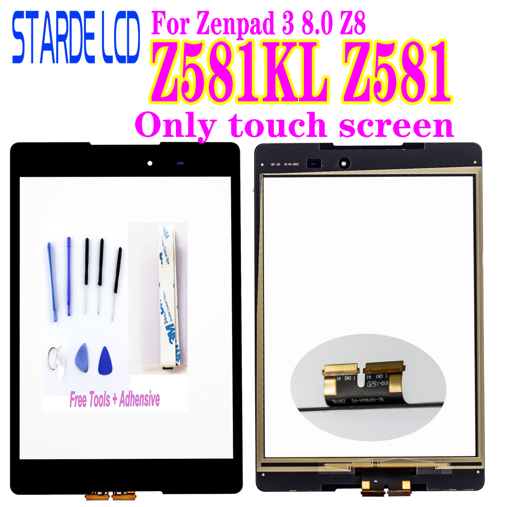 New Digitizer For Asus Zenpad 3 8.0 Z8 Z581 Z581KL Touch Screen Digitizer Panel Outer Glass Not LCD With Free Tools And Glue