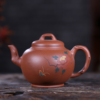 Yixing recommended undressed ore old slope mud harbinger blooming flowers 300 ml tea product
