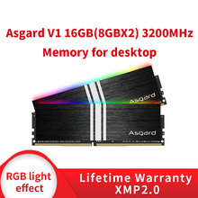 DIMM Computer Pc Memory Knight Desktop Ddr4 Pc4 Asgard 3200mhz Black 16GB RGB 8g V1 Rgb Ram