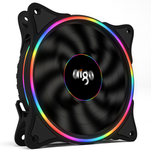 Aigo V1 Cooler PC Case Fan 120MM Fan Cooling LED 12V Cooling Fan 3Pin Rainbow Halo Mute Cooler Master Cooling Computer Fans