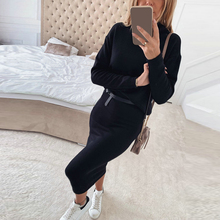 Winter Turtleneck Outfits Female Clothing Set Fd01