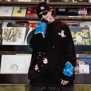 Image 4 - 2019 Hip Hop Hoodies Streetwear Japanischen Große Welle Kran Hoodie Sweatshirt Harajuku Männer Pullover Hoodie HipHop Übergroßen Baumwolle