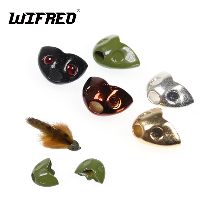 Head 8 Pack-fly tying - Large Olive Fish Skull Chabot Casque