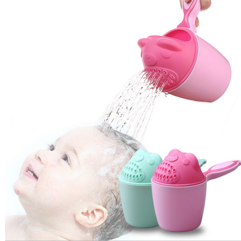 Baby Shampoo Rinse Cup Toddle Cartoon Water Swimming Balier Baby Shower Spoons Bathing Washing Hair Cup Kids Bath Tool
