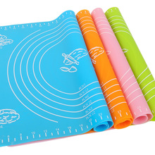 1PC 40*30 cm Sweet Color Silicone Nonstick Pastry Mat Kneading Dough Mat Scale show Baking Board Cake Tools Kitchen Utensils