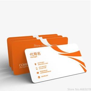 Image 5 - FreePrinting 100pc/200pc/500pc/1000 개/몫 종이 명함 300gsm 종이 카드 로고 인쇄 무료 배송 90x53mm
