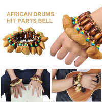 Percussion Bracelet 12 * 7 * 5.5cm Musical Instrument Bell Chimes Gadget Colorful Nut Shell Orchestral African Drum Handbell
