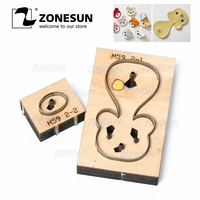 ZONESUN Bear Customized Leather Cutting Die Leather Diy Craft Wire Earphone Collector Wooden Template Punch Cut Steel Rule Die