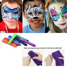 Children's Face Pastel Crayon Pen Kit Paint Clown Party Color Face 12 Color Crayons Makeup Cosmetic Bodypainting Halloween Party цена