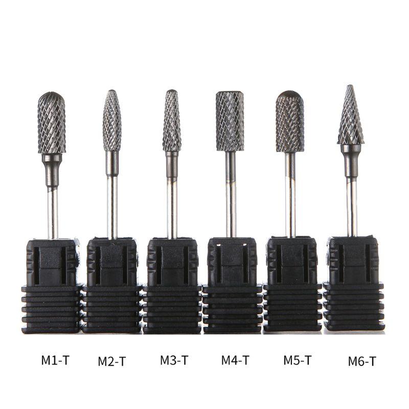 Carbide Nail Drill Bit Fine Round Top Electric Nails File Driller Bits Accessories