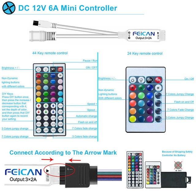 LED Strip Light Waterproof 5M 10M 15M RGB Controller 12V LED 3