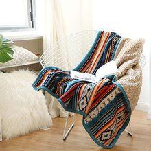 WOSTAR – couverture sherpa chaude en flanelle, drap de lit décoratif style bohème, couvre-lit pour canapé, voyage, hiver