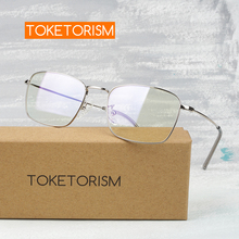 Toketorism rectangle glasses metal frame mens myopia spectacle vintage womens eyeglasses 9613